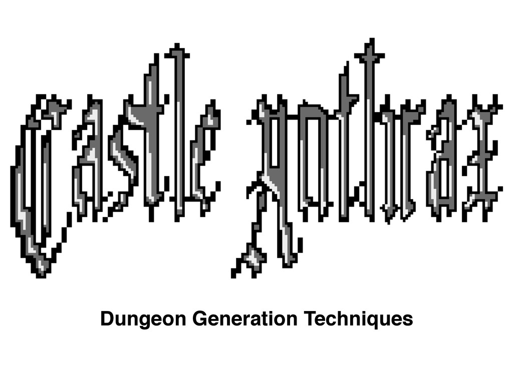 Dungeon Generation Techniques