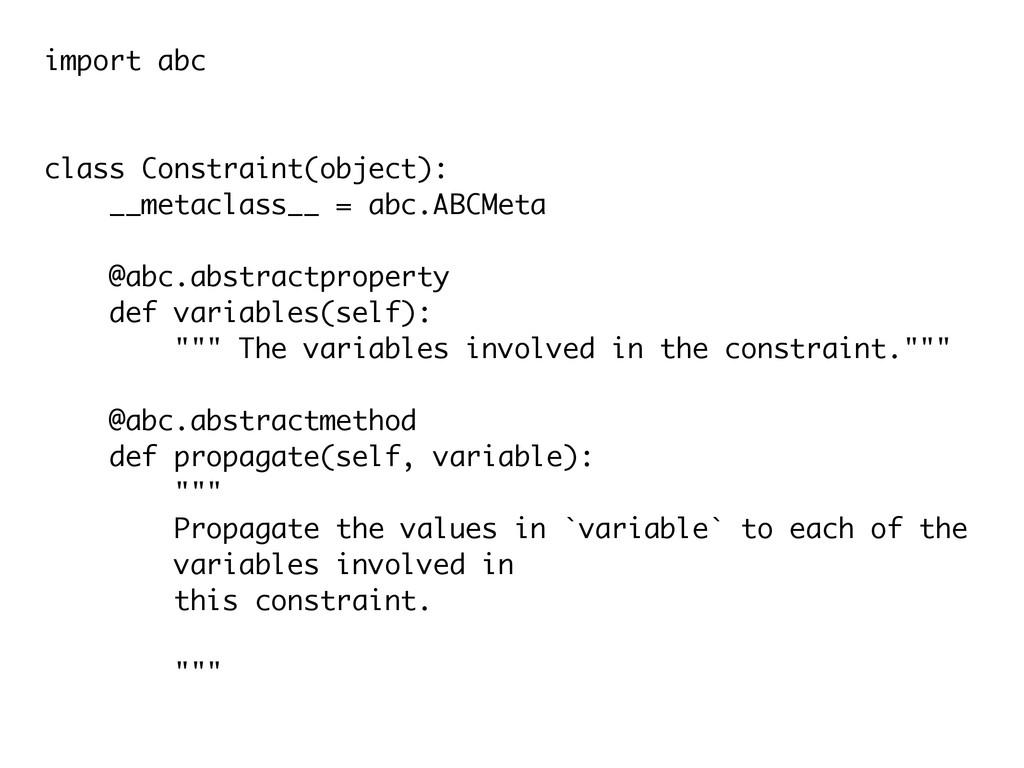 import abc ! ! class Constraint(object): __meta...