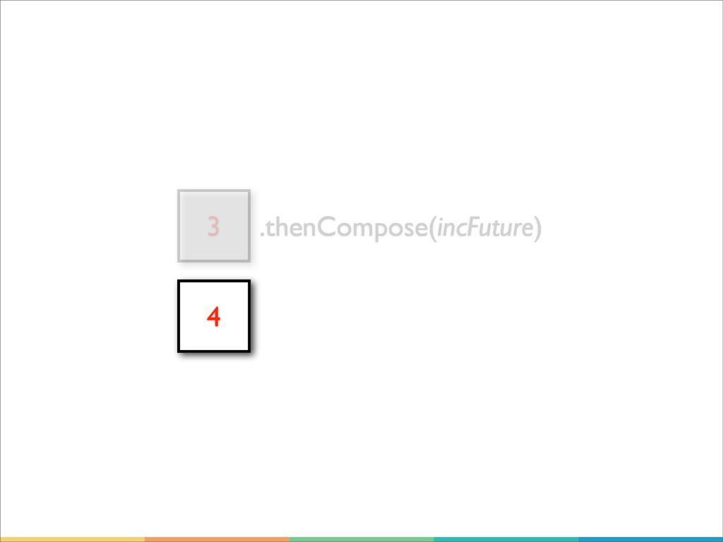 3 .thenCompose(incFuture) 4