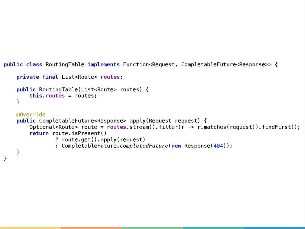 public class RoutingTable implements Function<R...