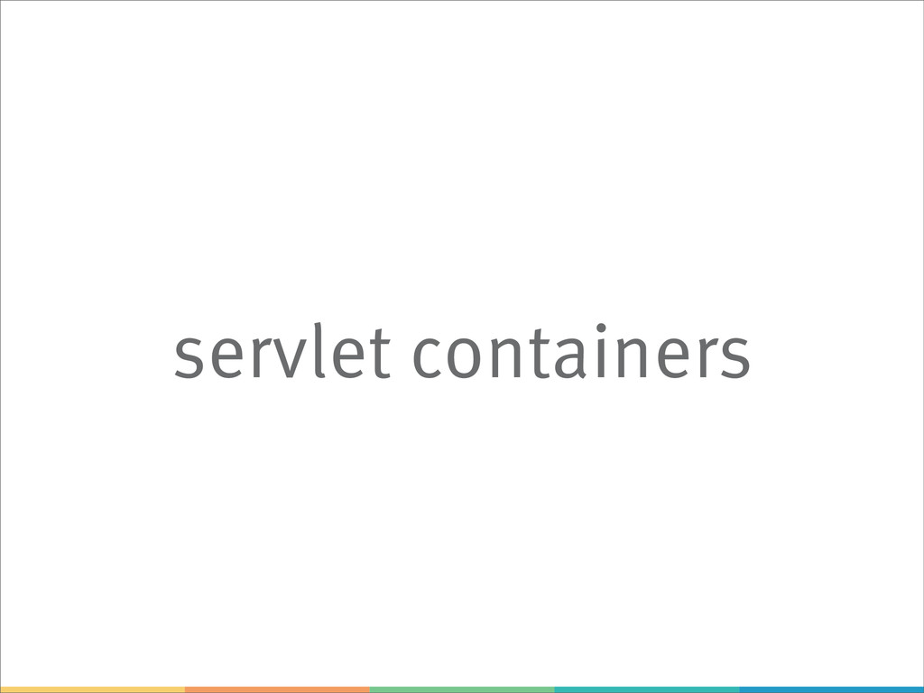 servlet containers