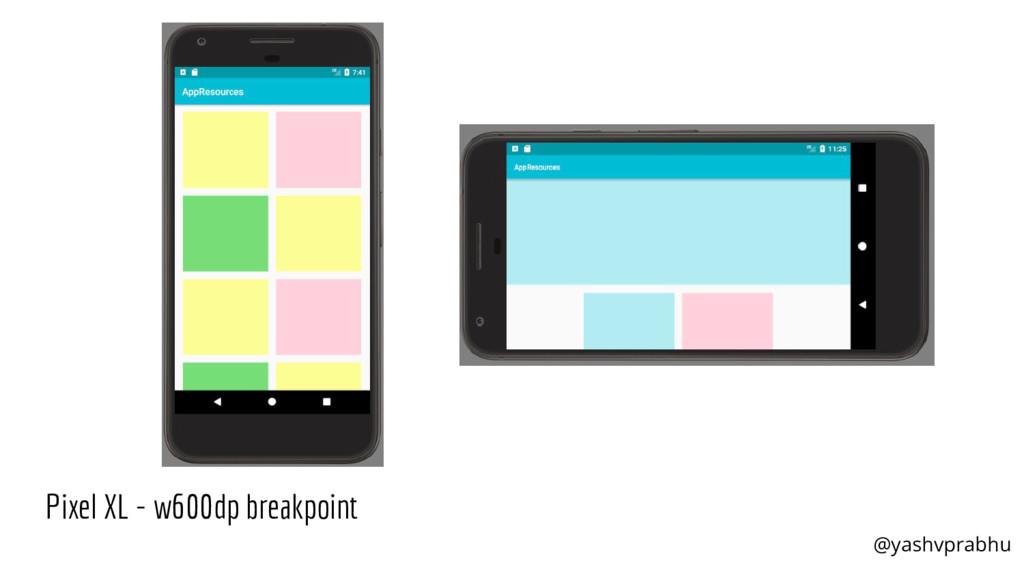 Pixel XL - w600dp breakpoint @yashvprabhu