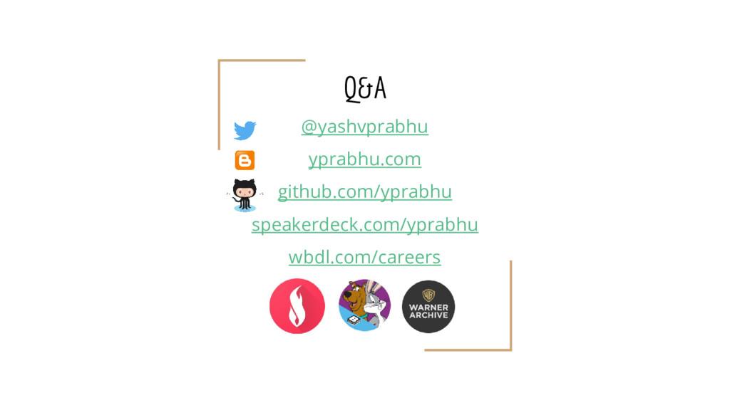 Q&A @yashvprabhu yprabhu.com github.com/yprabhu...