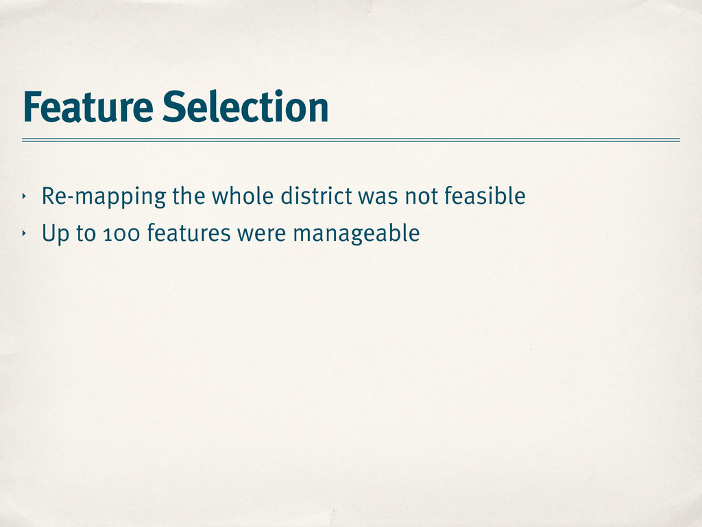 Feature Selection ‣ Re-mapping the whole distri...
