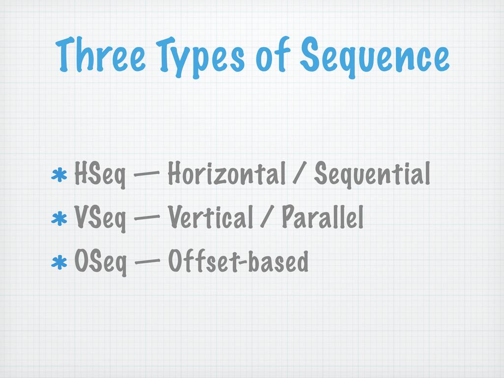 Three Types of Sequence HSeq — Horizontal / Seq...