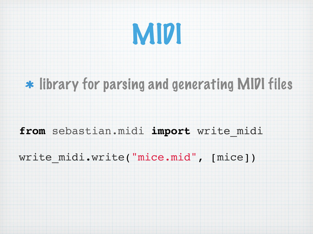 MIDI library for parsing and generating MIDI fi...