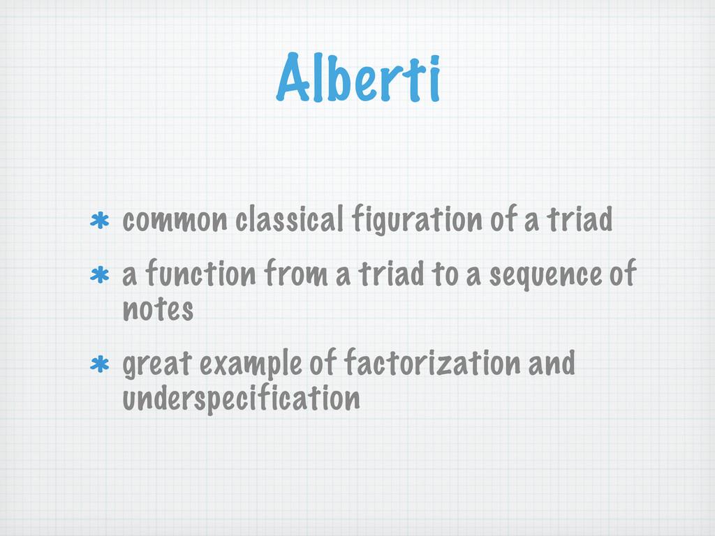 Alberti common classical figuration of a triad ...