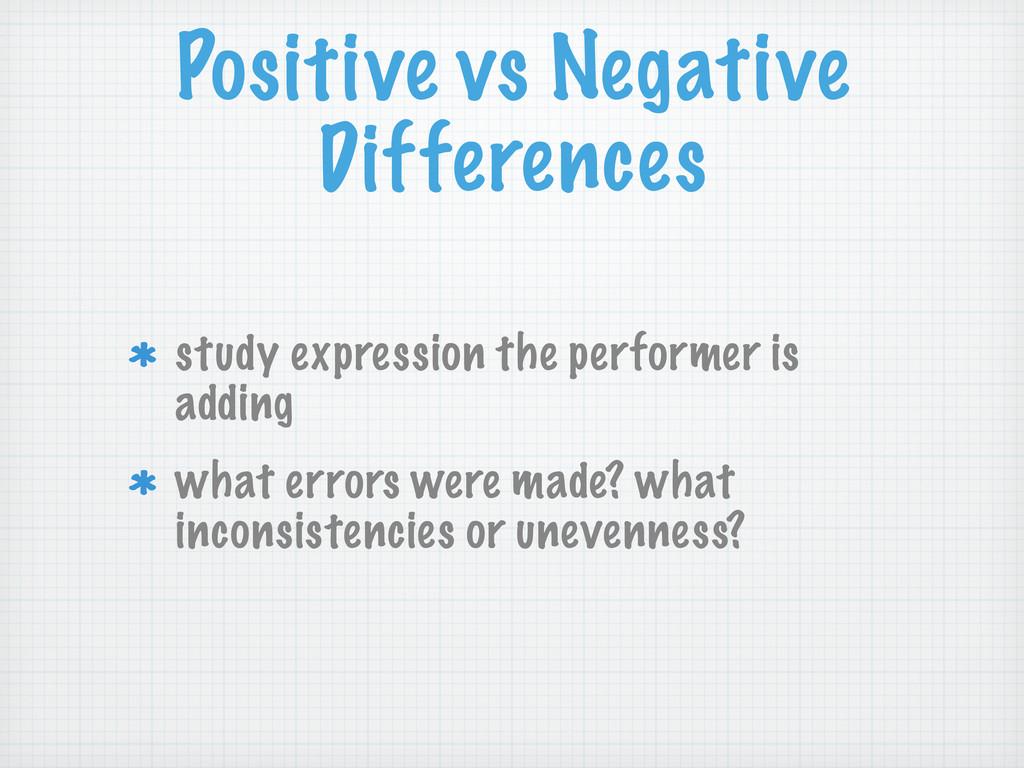 Positive vs Negative Differences study expressi...