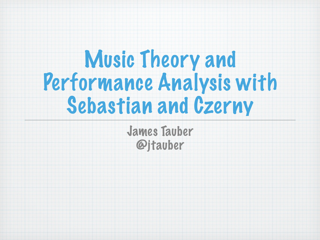Music Theory and Performance Analysis with Seba...