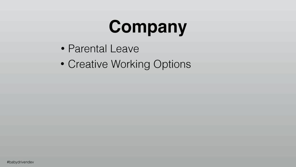 • Parental Leave • Creative Working Options Com...