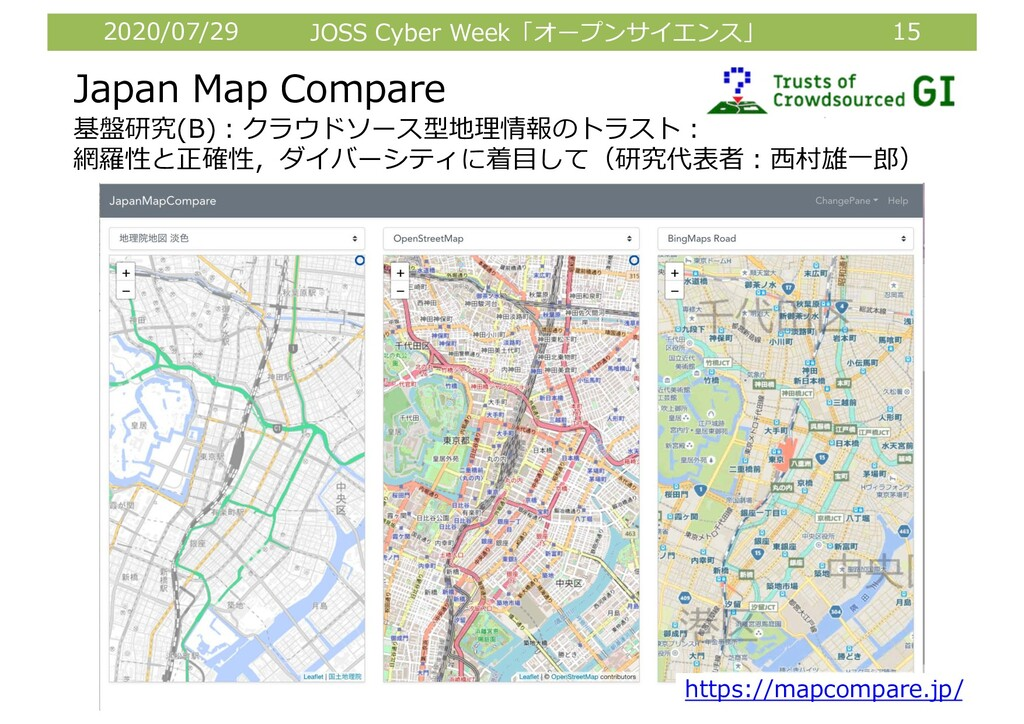 2020/07/29 JOSS Cyber Week「オープンサイエンス」 15 Japan ...