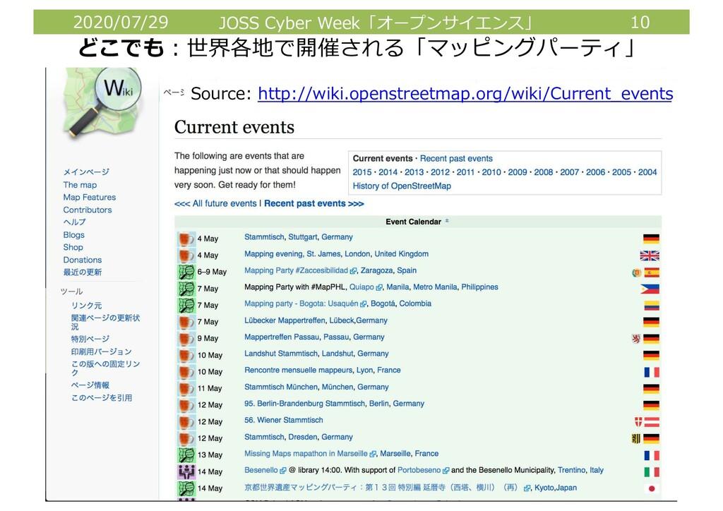 2020/07/29 JOSS Cyber Week「オープンサイエンス」 10 どこでも︓世...