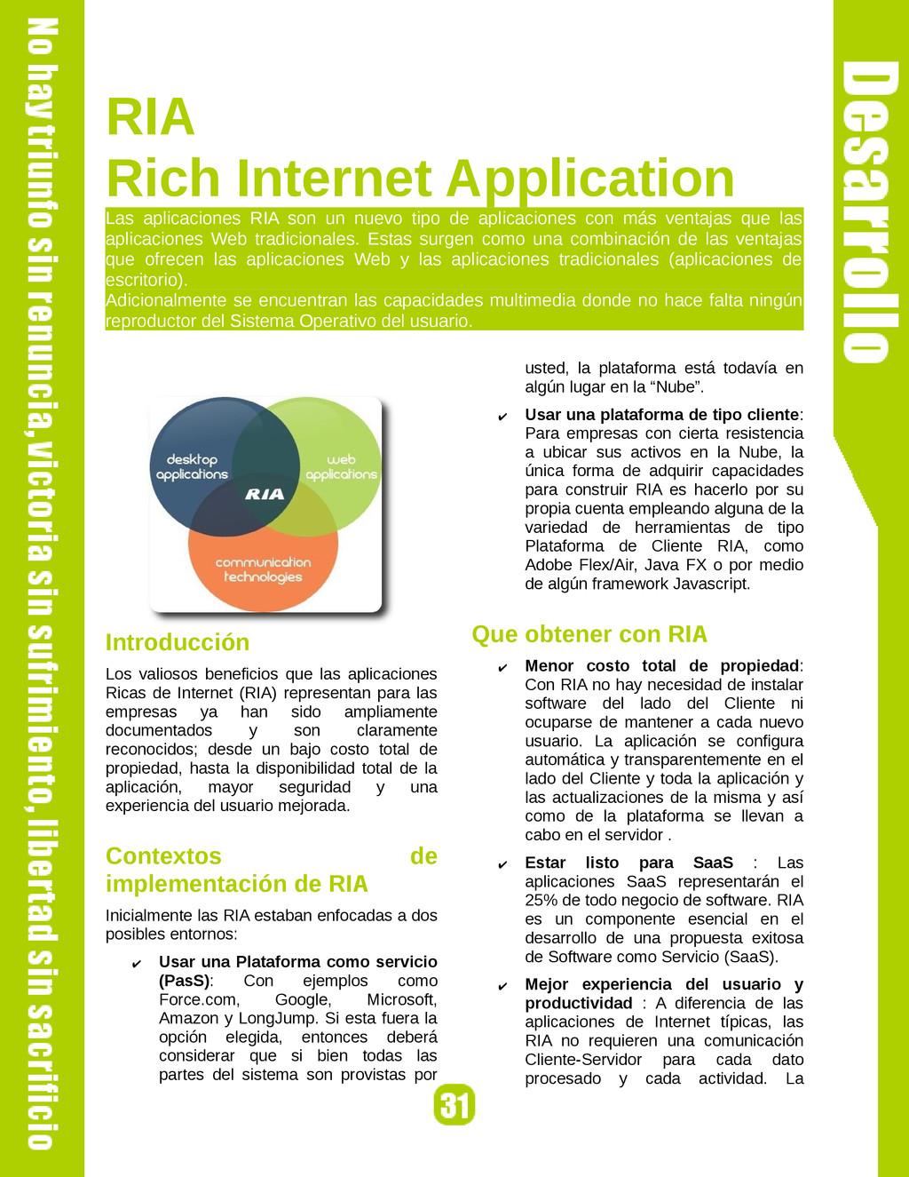 RIA Rich Internet Application Las aplicaciones ...