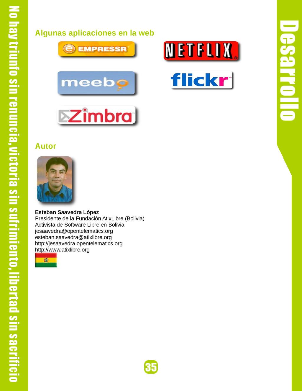 Algunas aplicaciones en la web Autor Esteban Sa...