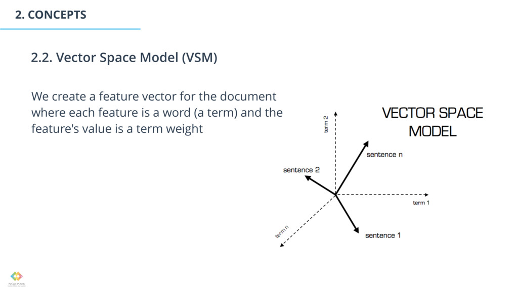 2. CONCEPTS We create a feature vector for the ...