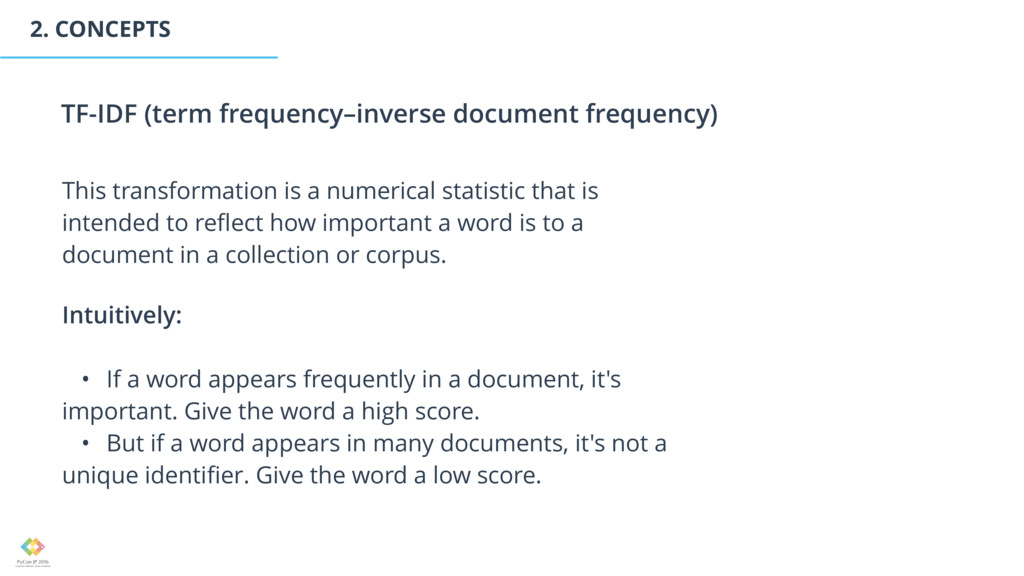 2. CONCEPTS This transformation is a numerical ...