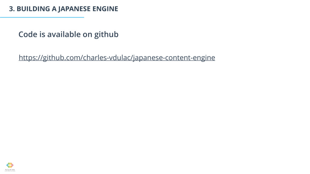 3. BUILDING A JAPANESE ENGINE Code is available...