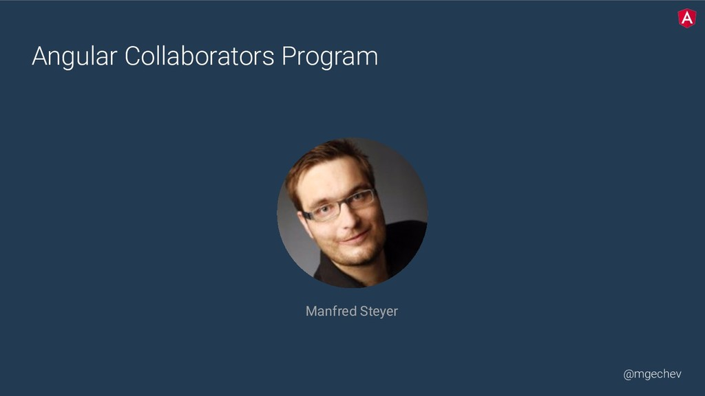 @mgechev Angular Collaborators Program Manfred ...