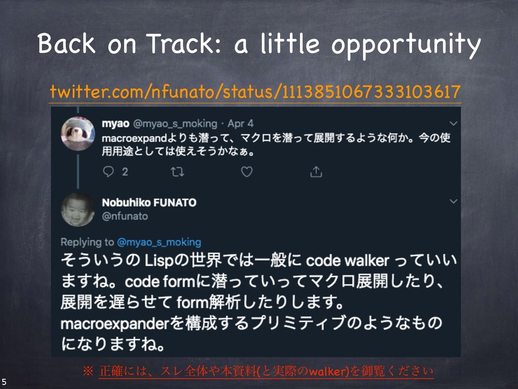 Back on Track: a little opportunity twitter.com...