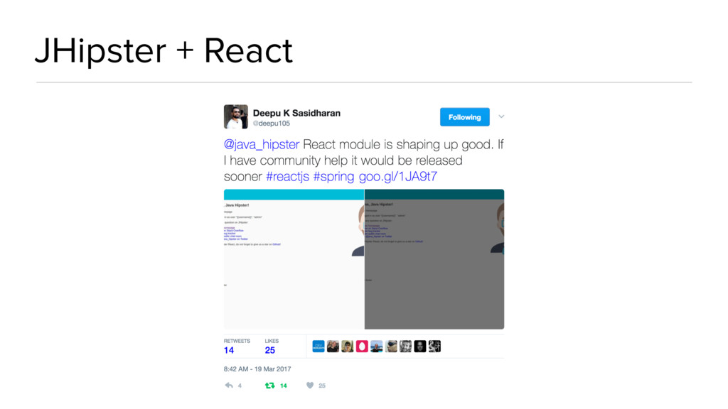 JHipster + React