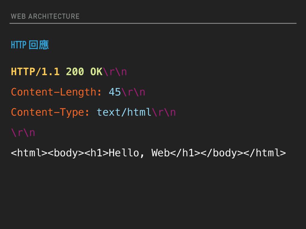 WEB ARCHITECTURE HTTP/1.1 200 OK\r\n Content-Le...