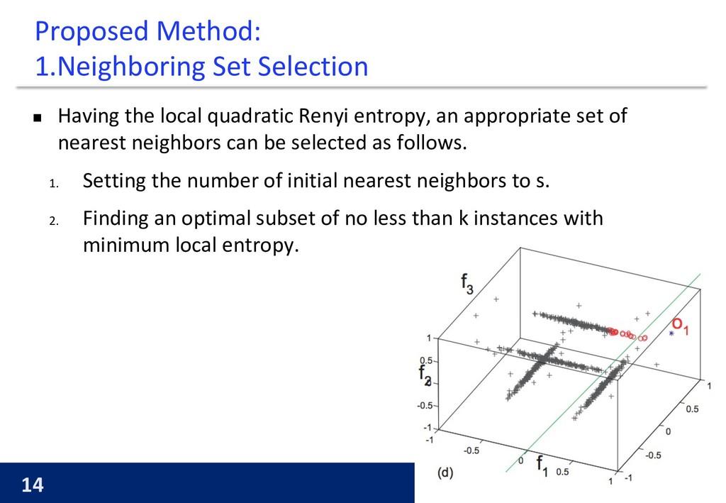 14 KYOTO UNIVERSITY Proposed Method: 1.Neighbor...