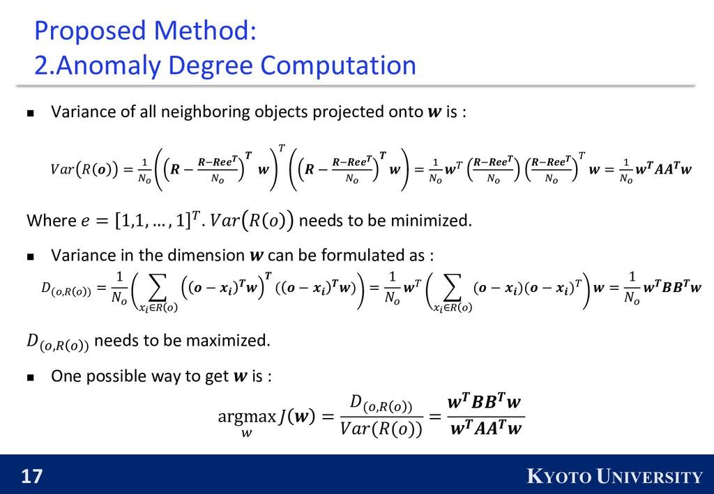 17 KYOTO UNIVERSITY Proposed Method: 2.Anomaly ...