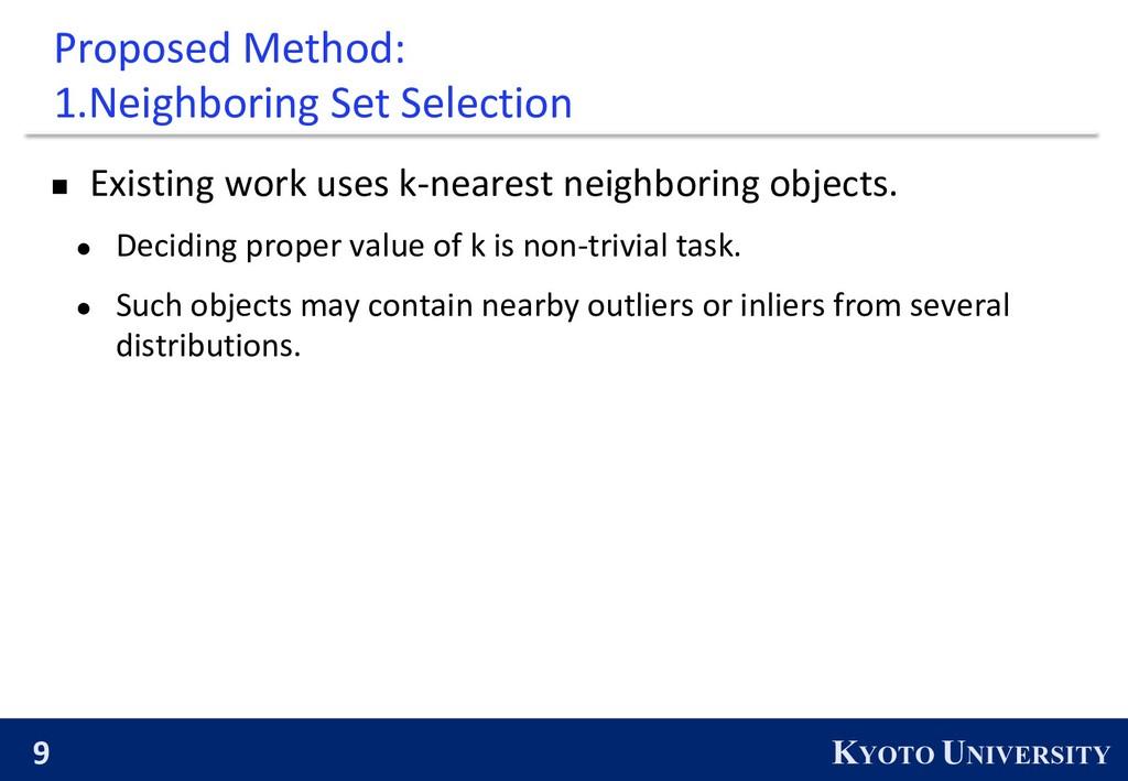 9 KYOTO UNIVERSITY Proposed Method: 1.Neighbori...