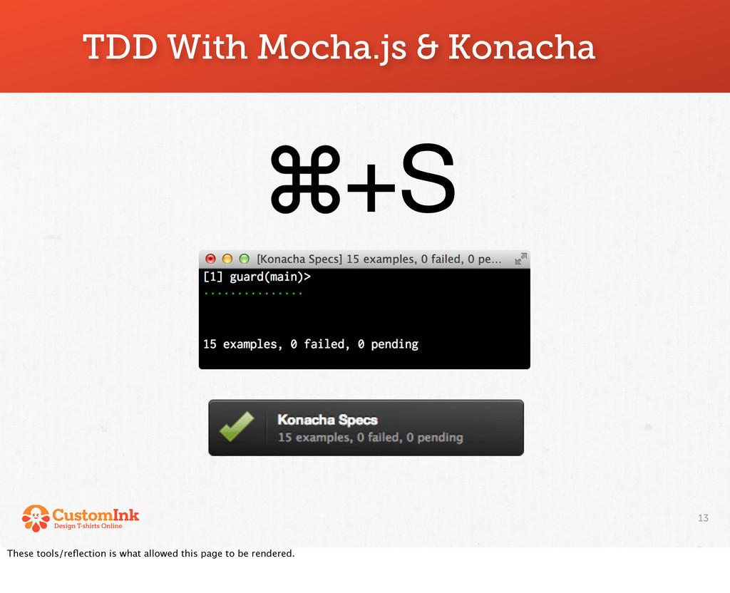 13 TDD With Mocha.js & Konacha +S These tools/r...