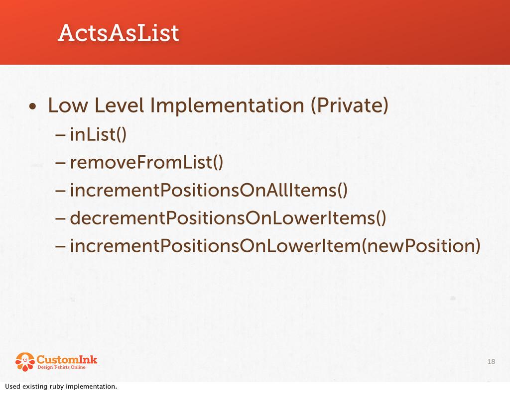 ActsAsList 18 • Low Level Implementation (Priva...