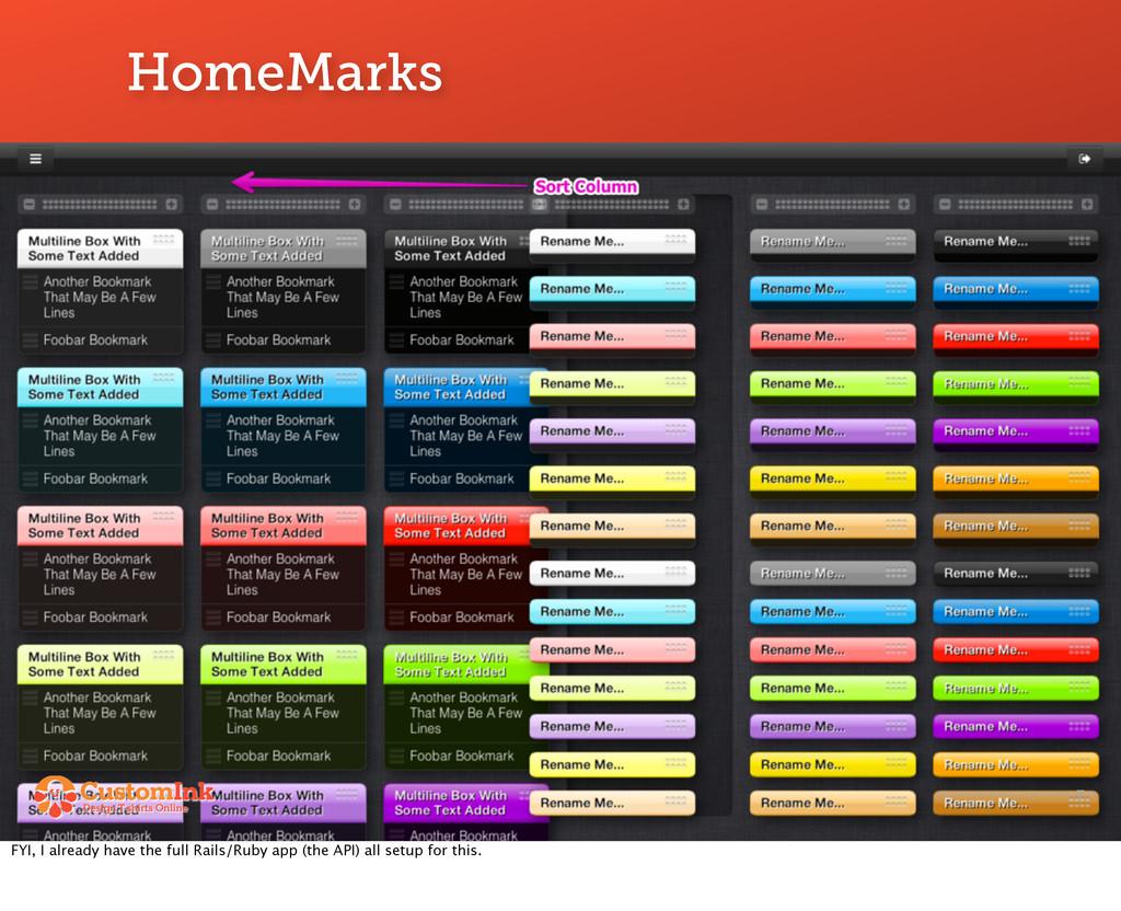 HomeMarks 7 FYI, I already have the full Rails/...
