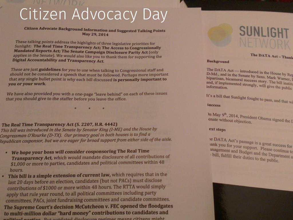 Citizen Advocacy Day