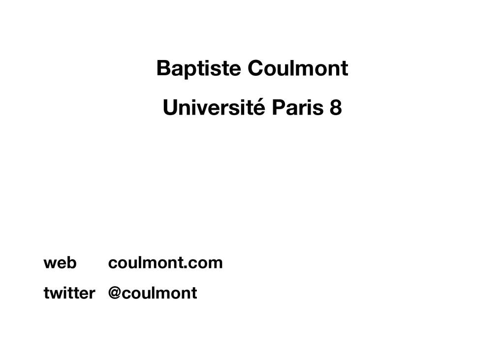 Baptiste Coulmont Université Paris 8 web coulmo...