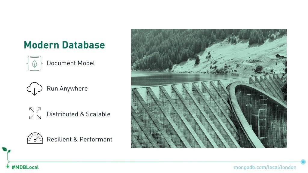 #MDBLocal Modern Database Document Model Run An...