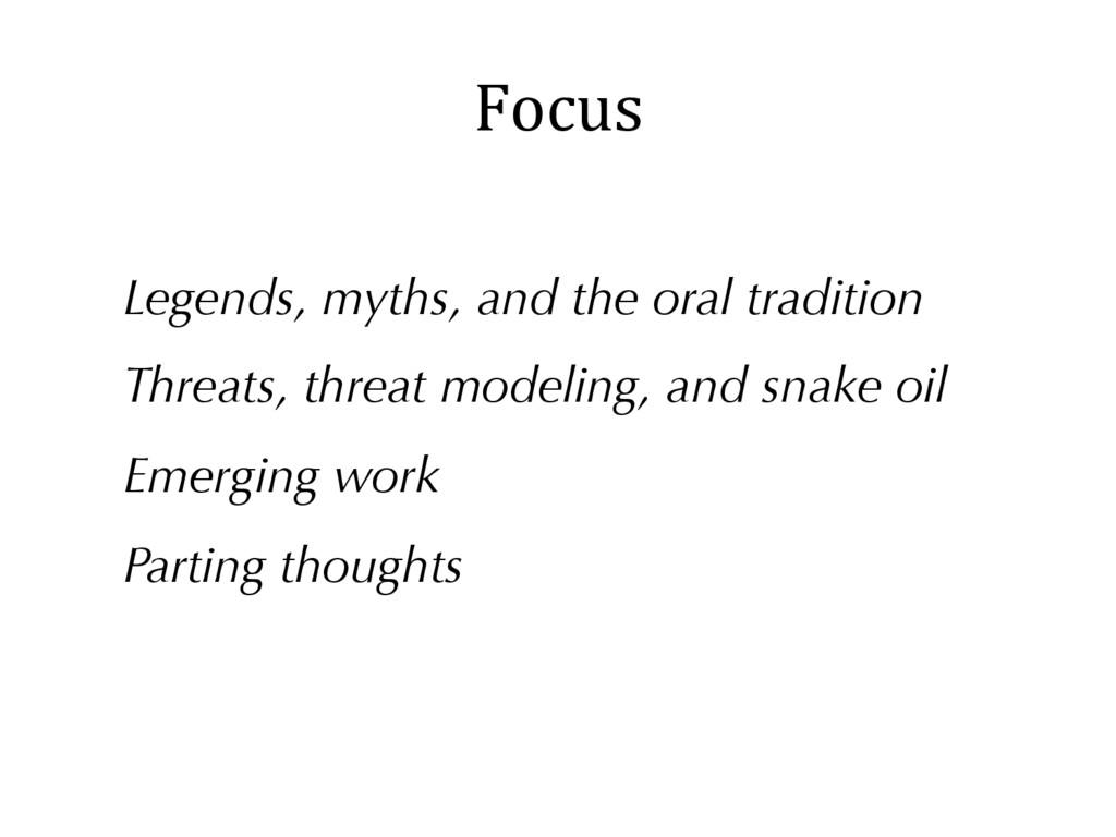 Focus Legends, myths, and the oral tradition Th...