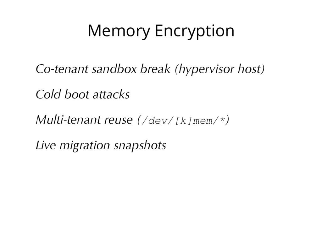 Memory Encryption Co-tenant sandbox break (hype...