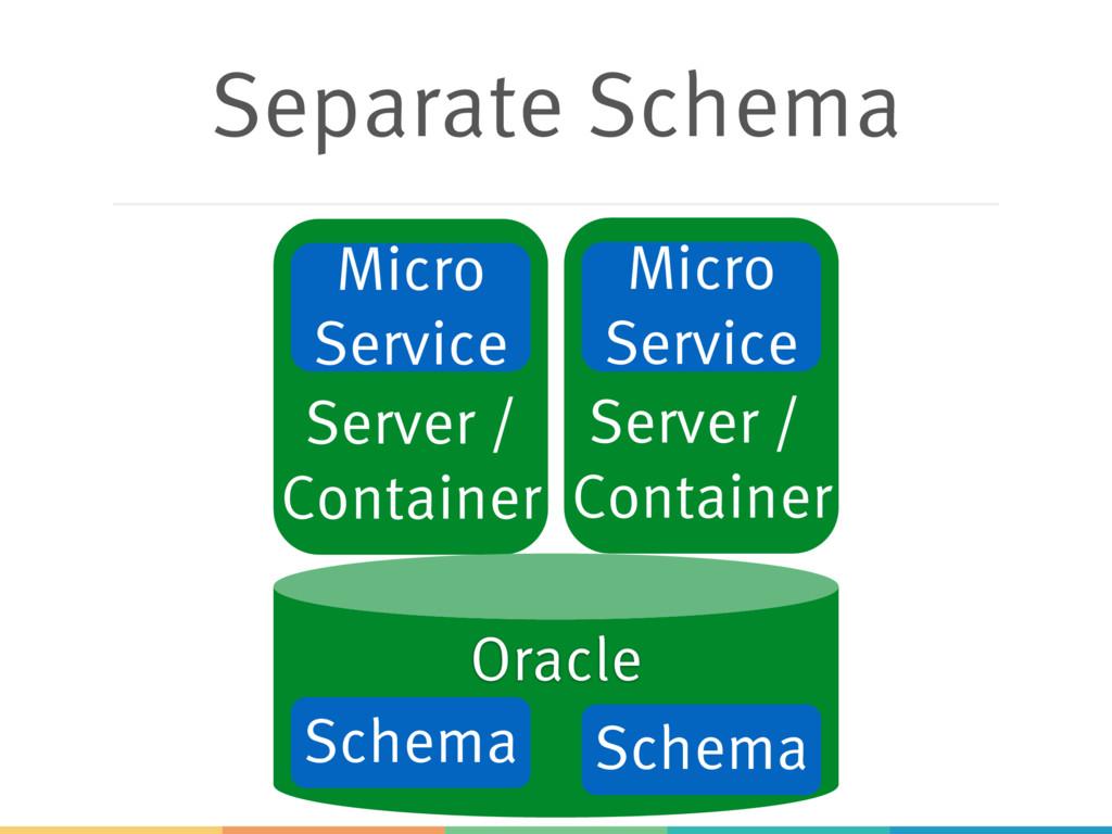 Separate Schema Server / Container Server / Con...
