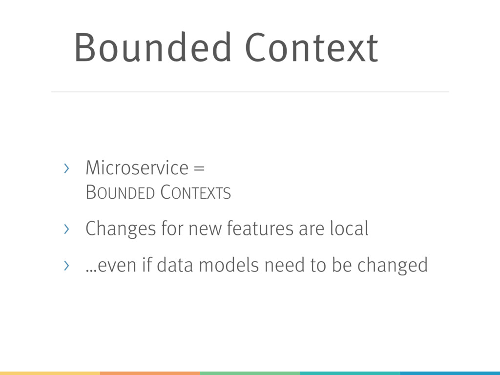 Bounded Context > Microservice = BOUNDED CONTEX...