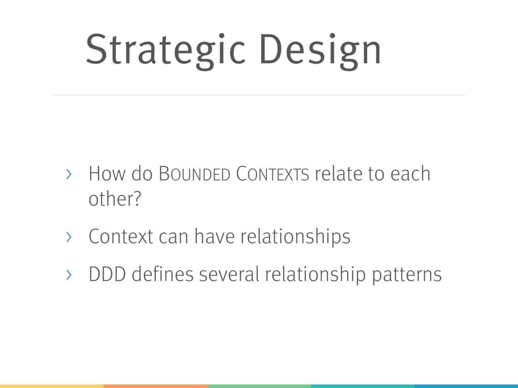 Strategic Design > How do BOUNDED CONTEXTS rela...