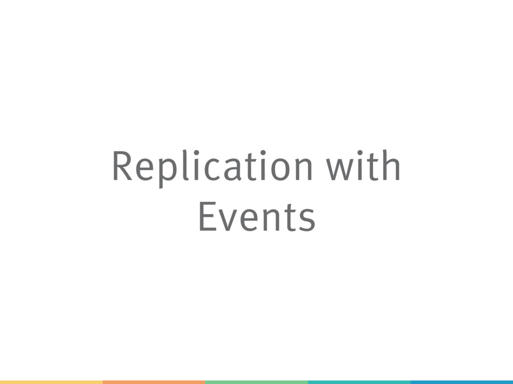 Replication with Events