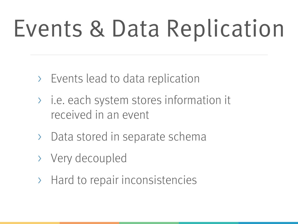 Events & Data Replication > Events lead to data...