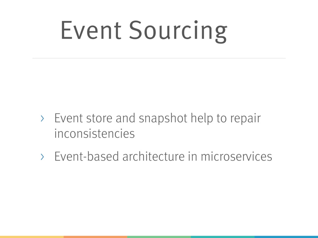 Event Sourcing > Event store and snapshot help ...