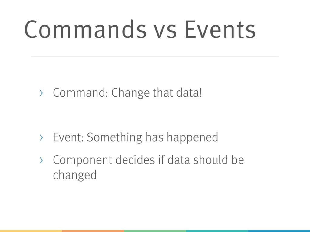 Commands vs Events > Command: Change that data!...
