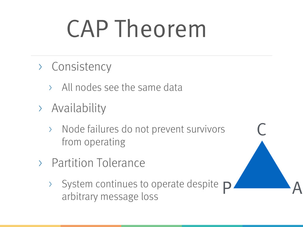 CAP Theorem > Consistency > All nodes see the s...