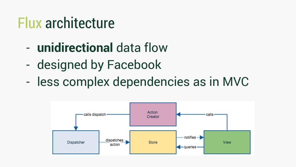 Flux architecture - unidirectional data flow - ...