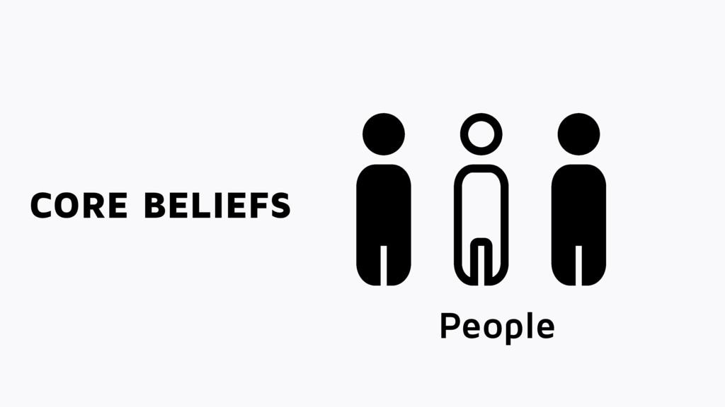 CORE BELIEFS People Interested
