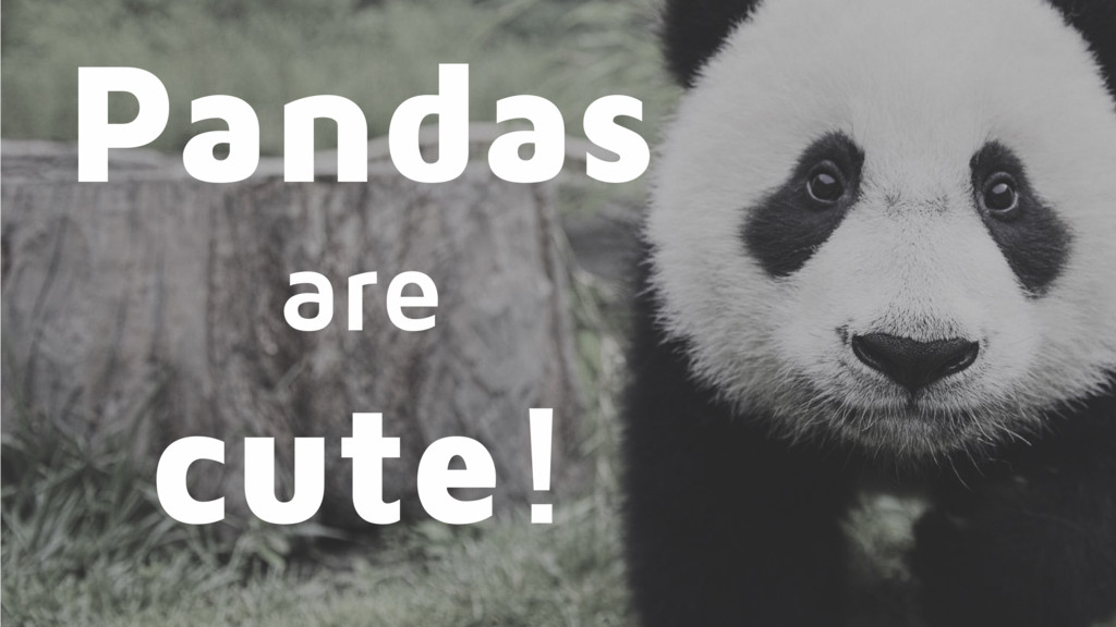 Pandas are cute!