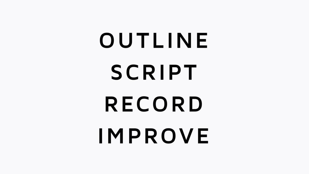 SCRIPT OUTLINE RECORD IMPROVE