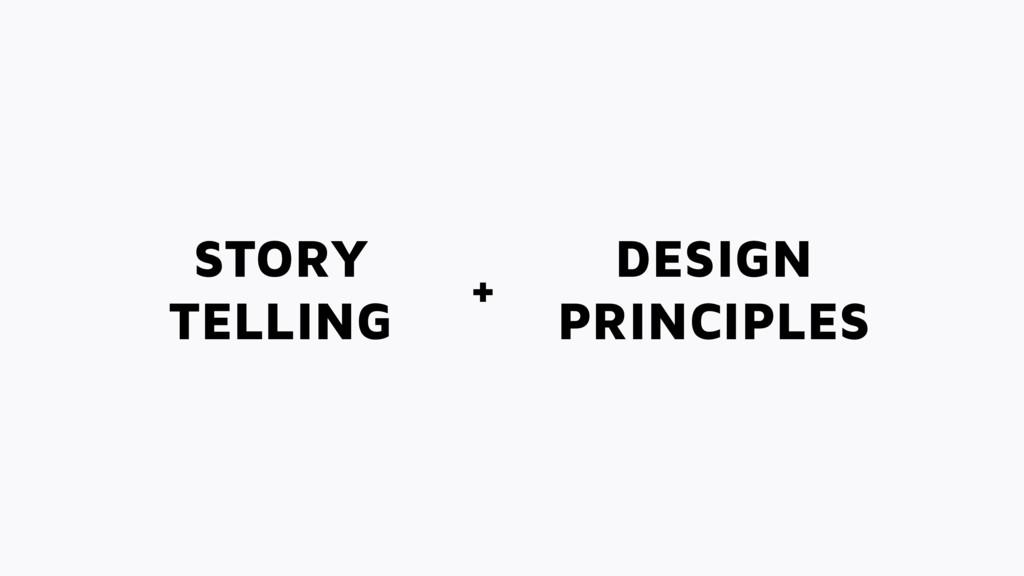 STORY TELLING DESIGN PRINCIPLES +