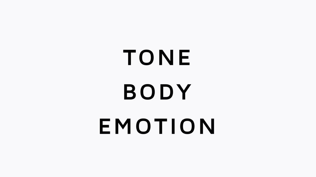 TONE BODY EMOTION